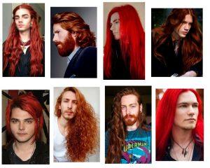 pelo rojo hombre