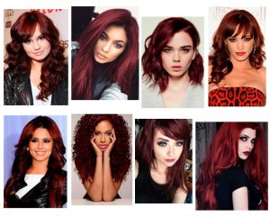 pelo rojo oscuro