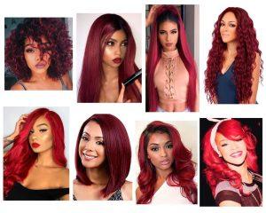 pelo rojo en morenas