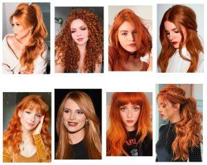 cabello rojo cobrizo