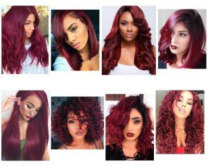 borgoña color de cabello para morenas