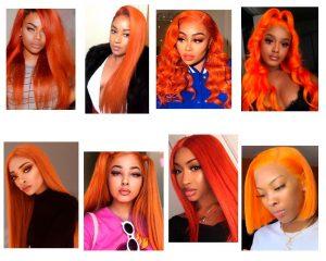 cabello naranja en morenas