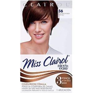 cabello rojo oscuro
