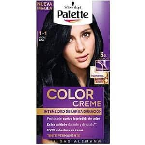 Palette Tinte para cabello color creme, negro azulado 1-1