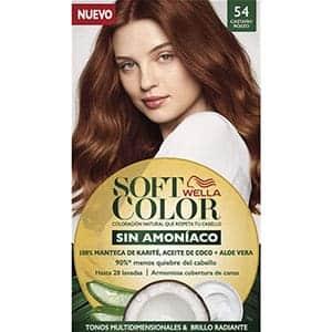 soft color castaño rojizo