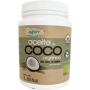 Aceite de coco orgánico sin olor ni sabor, Enature 1 litro