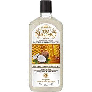 Shampoo hidratante de coco y jalea real para cabello Tío Nacho 415 ml °